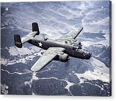 B-25 World War II Era Bomber - 1942 Acrylic Print by Daniel Hagerman