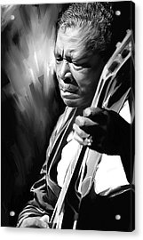 B B King Artwork Acrylic Print by Sheraz A