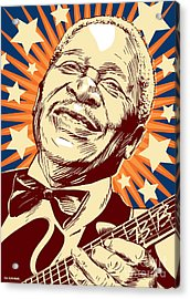 B. B. King Acrylic Print by Jim Zahniser