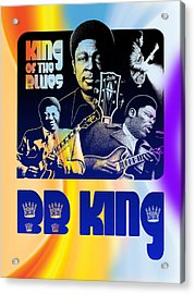 B. B. King Poster Art Acrylic Print by Robert Korhonen