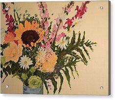 B-day Bouquet Acrylic Print by Valerie Lynch