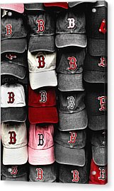 B For Bosox Acrylic Print by Joann Vitali