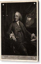 B. Franklin Of Philadelphia L.l.d. F.r.s.  M. Chamberlin Acrylic Print