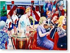B05. The Drummer Acrylic Print