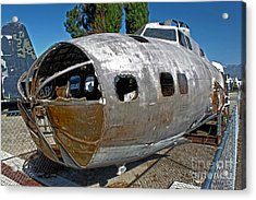 B17 Derelict Airplane - 01 Acrylic Print by Gregory Dyer