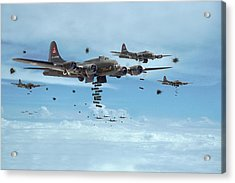 B17 - Mighty 8th Arrives Acrylic Print