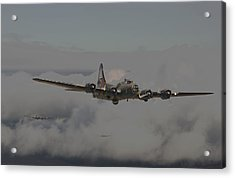 B17 Outbound - 'heavy Weather' Acrylic Print by Pat Speirs
