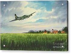 B17 Over Norfolk England Acrylic Print