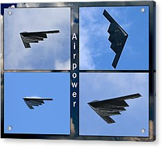 Acrylic Print featuring the photograph B2 Stealth Bomber by John Freidenberg