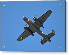 B25 Mitchell Wwii Bomber On 70th Anniversary Of Doolittle Raid Over Florida 21 April 2013 Acrylic Print by Jeff at JSJ Photography