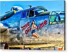 B25 Take Off Time Acrylic Print by Nick Zelinsky