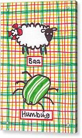 Baa Humbug Acrylic Print by Julie  Hutchinson