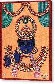 Baansuri Krishna Acrylic Print