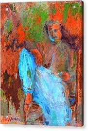 Baba In A Chair Acrylic Print by Joe DiSabatino