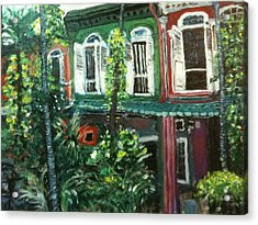 Acrylic Print featuring the painting Baba Nonya House by Belinda Low