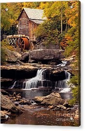 Acrylic Print featuring the photograph Babcock Grist Mill And Falls by Jerry Fornarotto