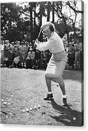 Babe Didrikson Demonstration Acrylic Print