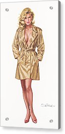 Babe In Trenchcoat Acrylic Print