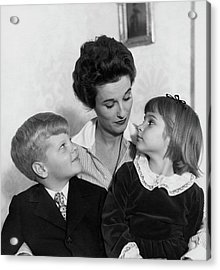 Babe Paley And Her Young Children Acrylic Print
