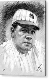 Babe Ruth Acrylic Print