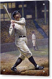 Babe Ruth Acrylic Print by Gregory Perillo