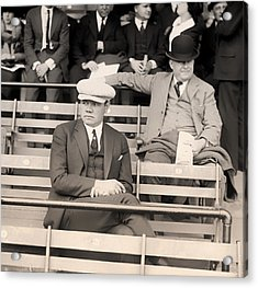 Babe Ruth In The Stands At Griffith Stadium 1922 Acrylic Print by Mountain Dreams