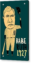 Babe Ruth New York Yankees Acrylic Print by Jay Perkins