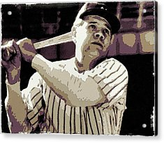 Babe Ruth Poster Art Acrylic Print