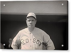 Babe Ruth With The Sox Acrylic Print by Mountain Dreams