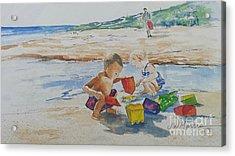 Baby Beach Bums Acrylic Print