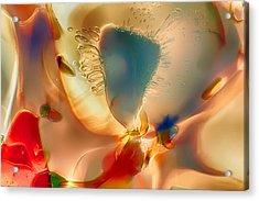 Baby Blue Acrylic Print by Omaste Witkowski