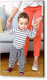 Baby Boy Learning To Walk Acrylic Print