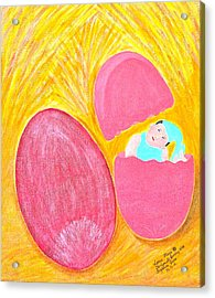 Acrylic Print featuring the painting Baby Egg by Lorna Maza