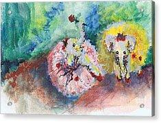 Baby Elephant Ballerinas Acrylic Print
