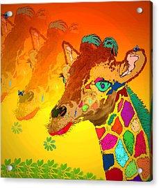 Baby Giraffe 2a Acrylic Print by Joyce Dickens