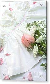 Baby Girl Dress Acrylic Print by Diane Diederich