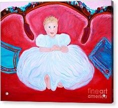 Baby Girl. Inspirations Collection. Acrylic Print by Oksana Semenchenko