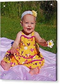 Baby Girl Acrylic Print by Kimberley Anglesey
