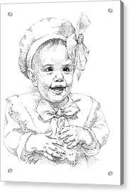 Baby Girl. Stippling. Commission. Acrylic Print