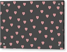 Baby Hearts Acrylic Print by Chastity Hoff