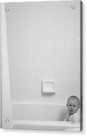 Baby In Tub Acrylic Print