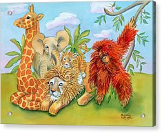 Baby Jungle Animals Acrylic Print