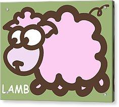 Baby Lamb Nursery Art Acrylic Print