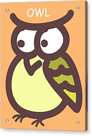 Baby Owl Nursery Wall Art Acrylic Print by Nursery Art