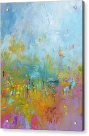 Baby You're A Firework Acrylic Print by Sally Kelly