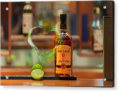 Bacardi And Lime In Love Acrylic Print by Gavin Baker