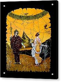 Bacchus And Flora Acrylic Print