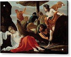 Bacchus Discovering Ariadne On Naxos Acrylic Print