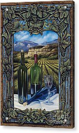 Bacchus Vineyard Acrylic Print