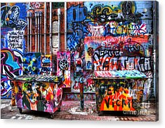 Back Alley Canvas Acrylic Print